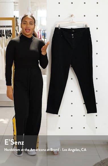 Double Button Contour Skinny Jeans, sales video thumbnail