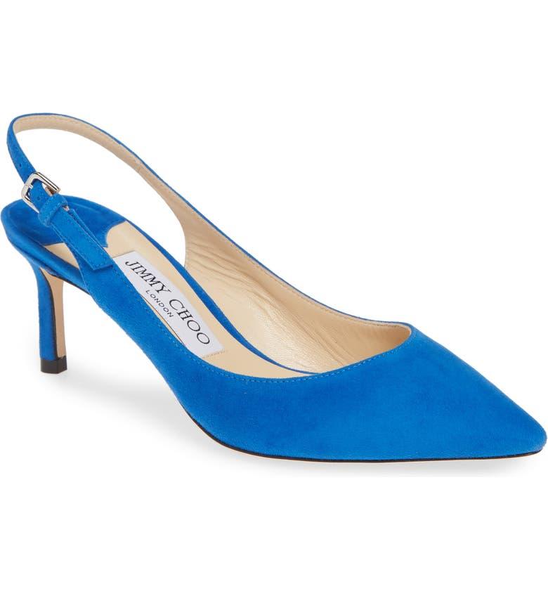 JIMMY CHOO Erin Pointy Toe Slingback Pump, Main, color, ELECTRIC BLUE