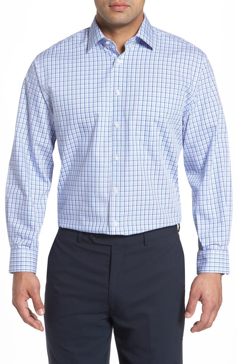 NORDSTROM MEN'S SHOP Smartcare<sup>™</sup> Classic Fit Plaid Dress Shirt, Main, color, 420