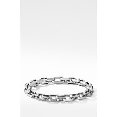 David Yurman Heirloom Pave Black Diamonds Chain Link Bracelet
