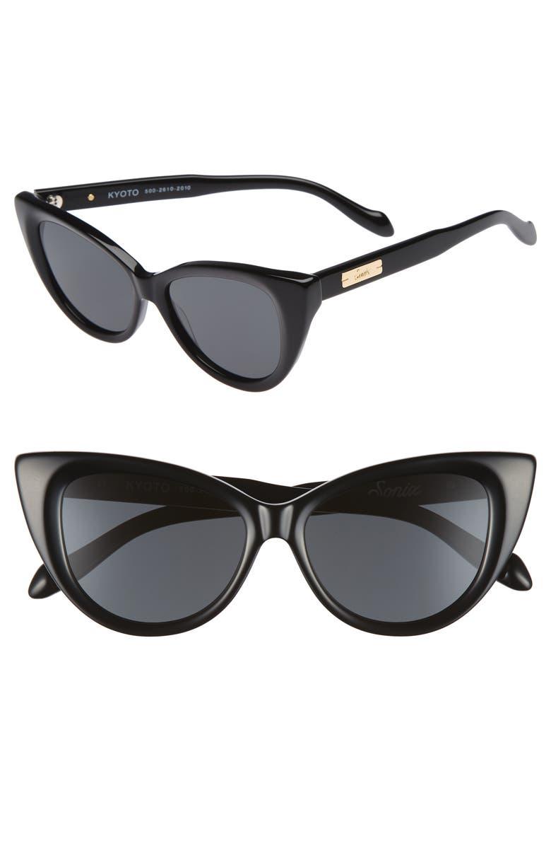 SONIX Kyoto 51mm Cat Eye Sunglasses, Main, color, 001