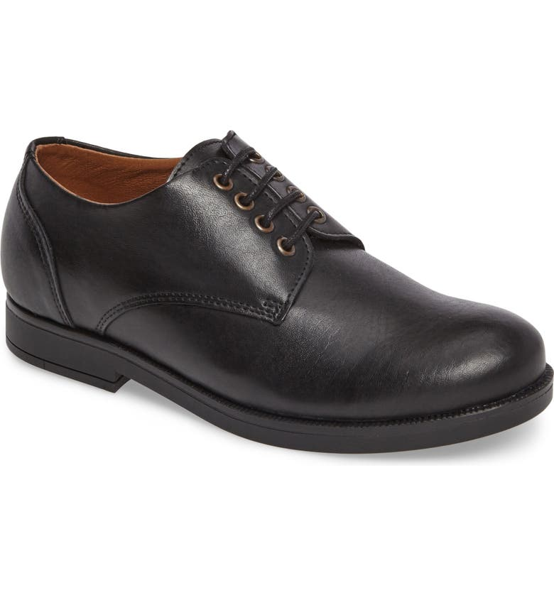 VINCE CAMUTO Kalb Plain Toe Oxford, Main, color, BLACK LEATHER