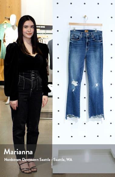 The Insider High Waist Crop Step Chew Hem Jeans, sales video thumbnail