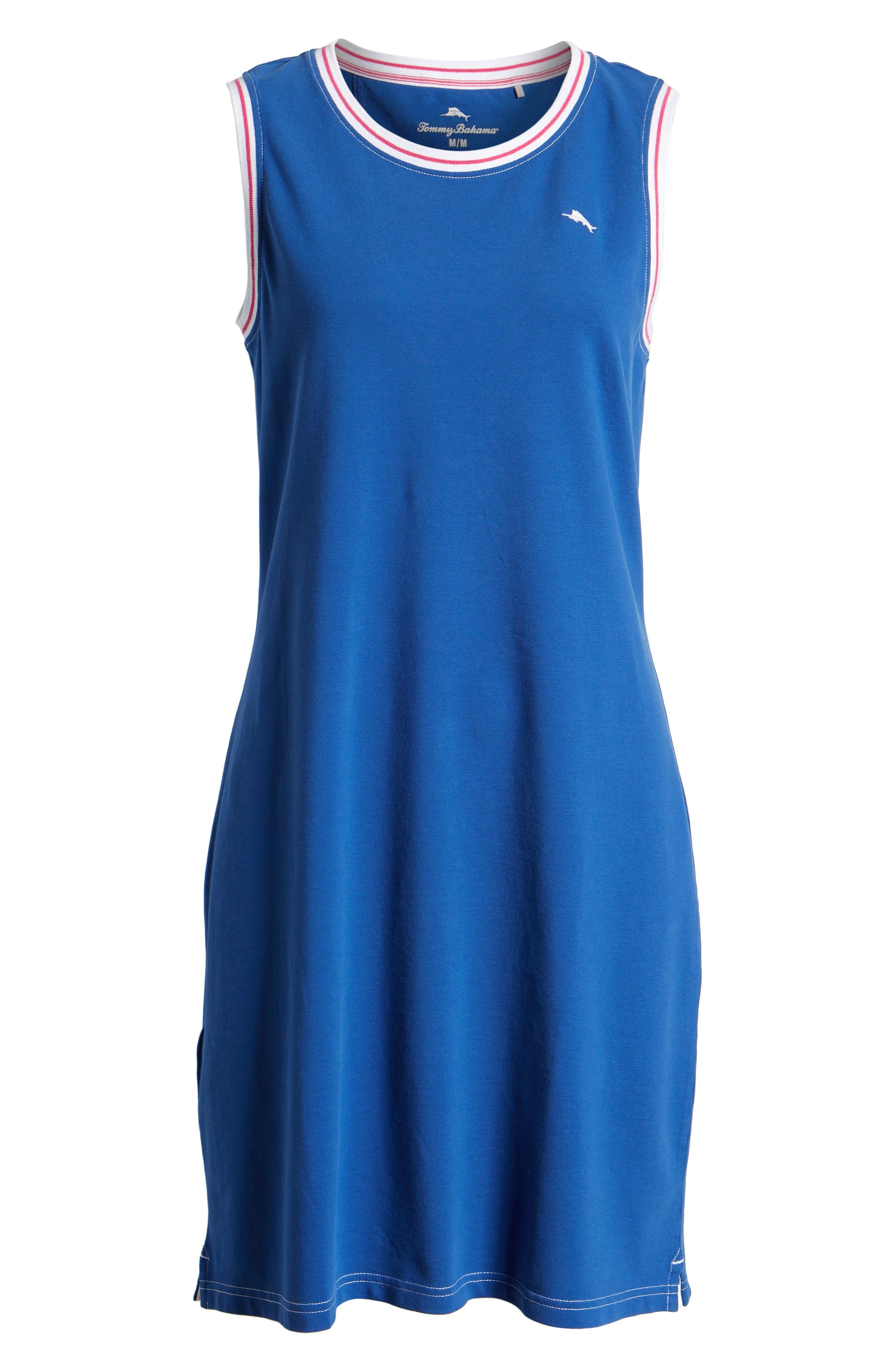 ,                             Paradise Classic Sleeveless Dress,                             Alternate thumbnail 7, color,                             MONACO BLUE
