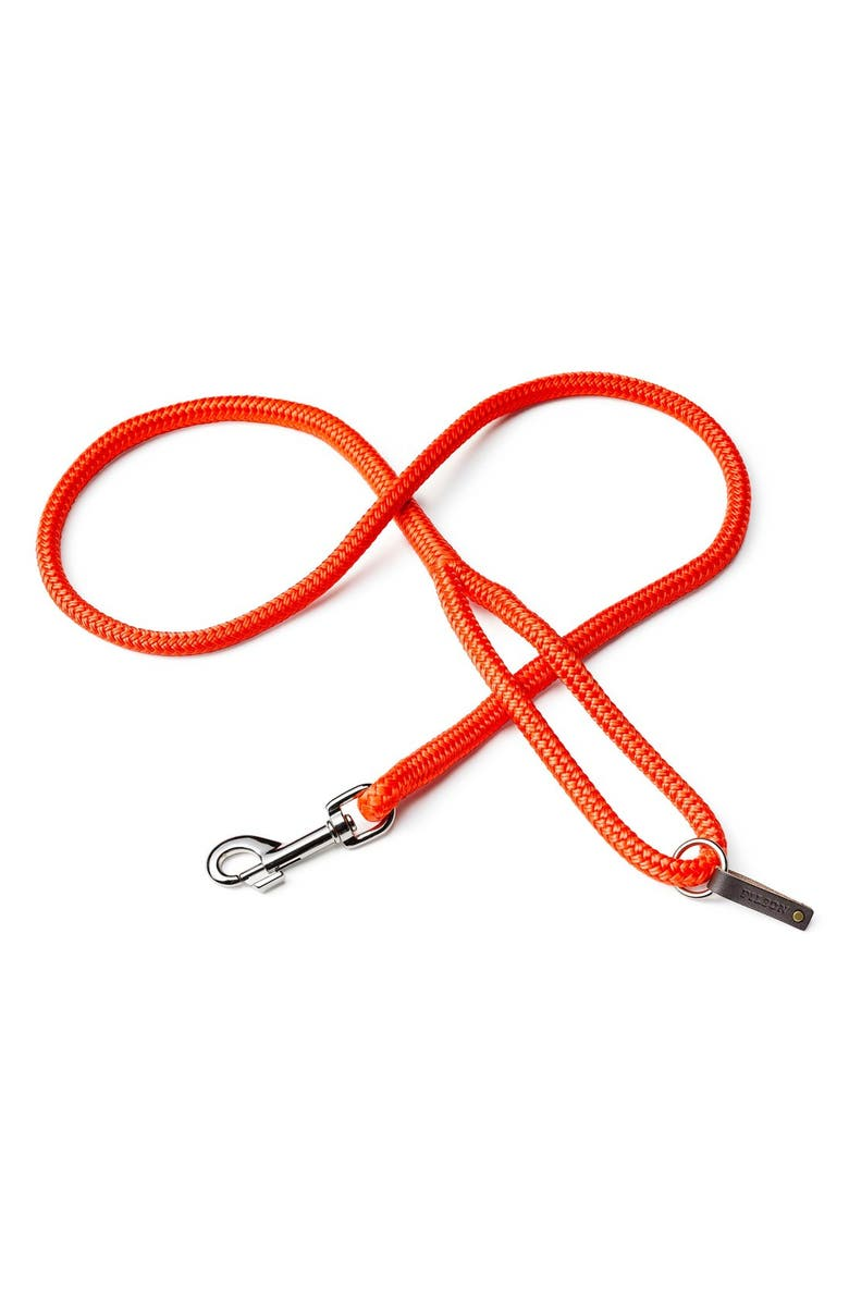 FILSON Rope Dog Leash, Main, color, BLAZE ORANGE