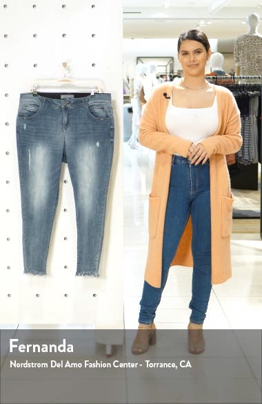 Ab-Solution Luxe Touch Chewed Hem Skinny Jeans, sales video thumbnail