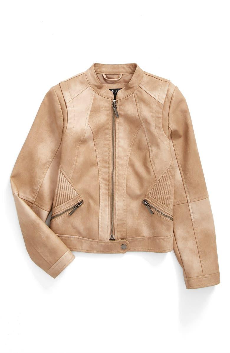 BERNARDO 'Scarlet' Faux Leather Moto Jacket, Main, color, 250