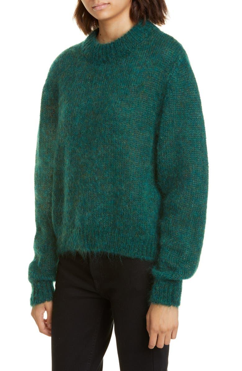 ROSEANNA Mohair Blend Sweater, Main, color, GREEN