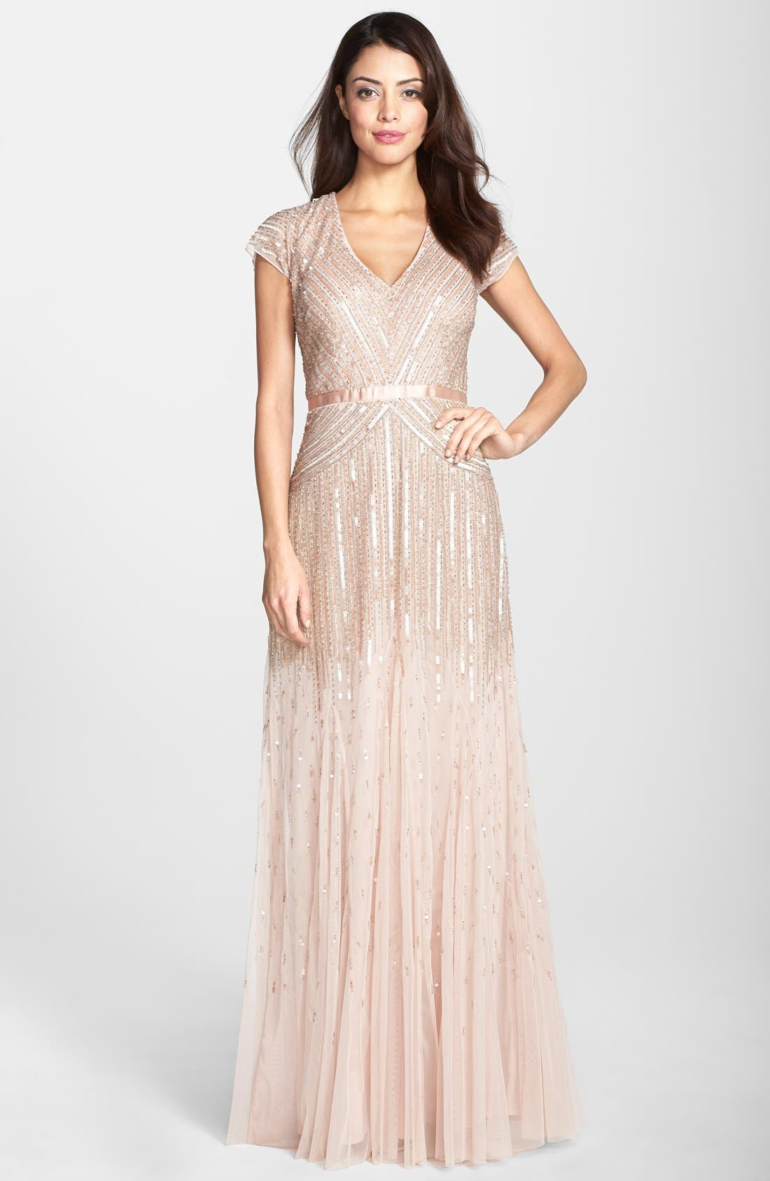 ,                             Embellished Mesh Gown,                             Main thumbnail 10, color,                             680