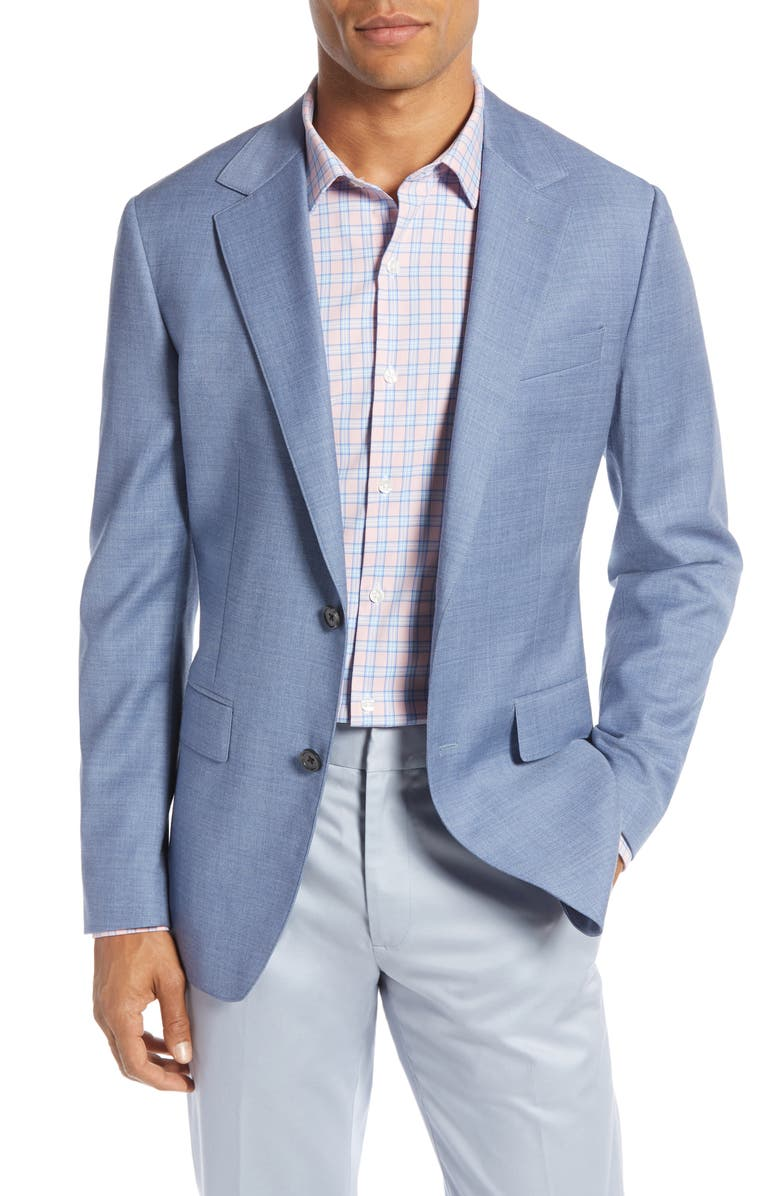 BONOBOS Jetsetter Slim Fit Stretch Wool Sport Coat, Main, color, ICE BLUE