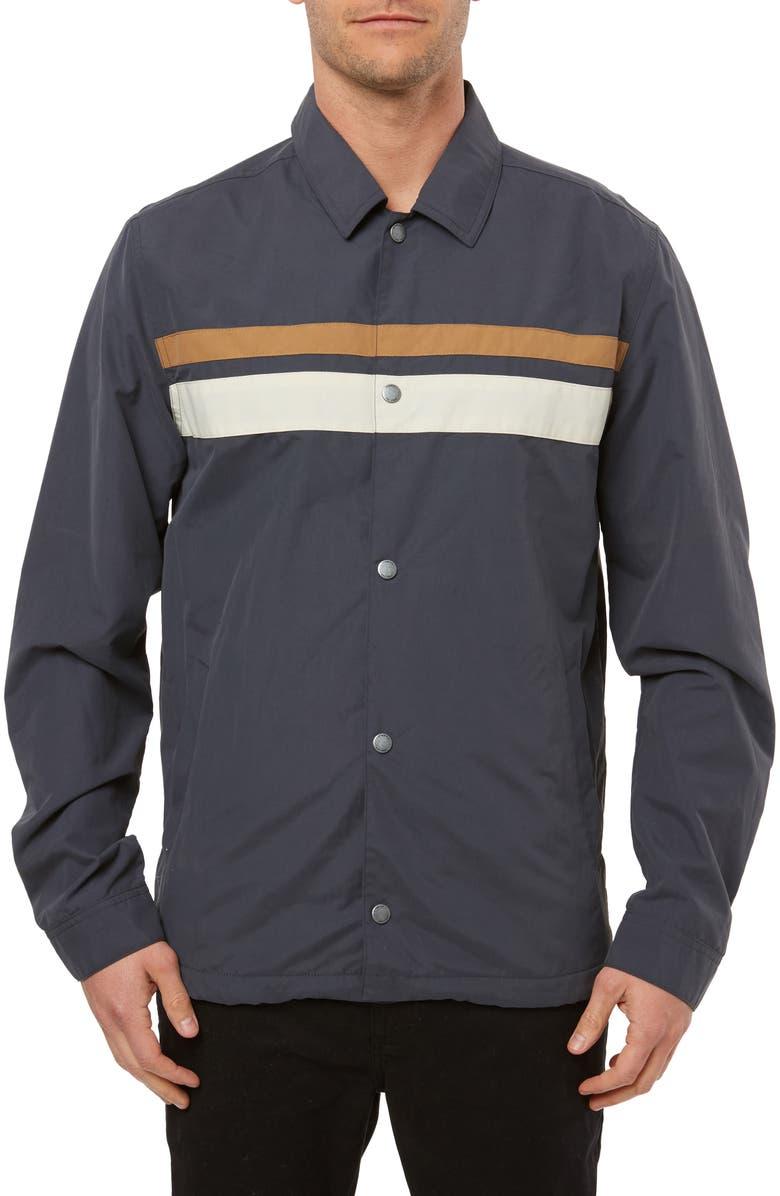 O'NEILL United Coach's Jacket, Main, color, DARK INDIGO