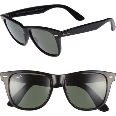 Ray-Ban Classic Wayfarer 5m Sunglasses - Black/ Green