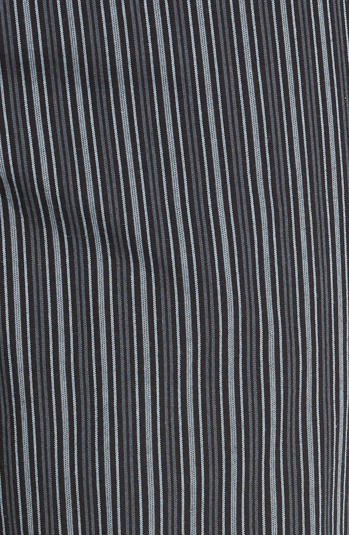 ,                             Poplin Pajama Pants,                             Alternate thumbnail 5, color,                             GREY- BLACK STRIPE