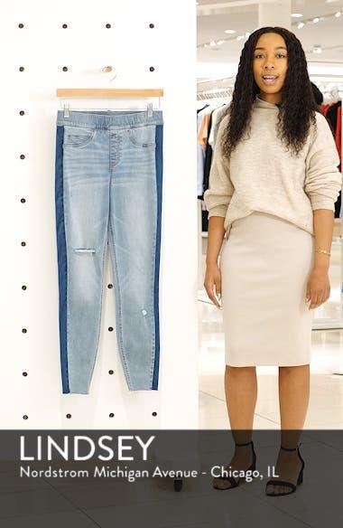 Washed Side Stripe Denim Leggings, sales video thumbnail