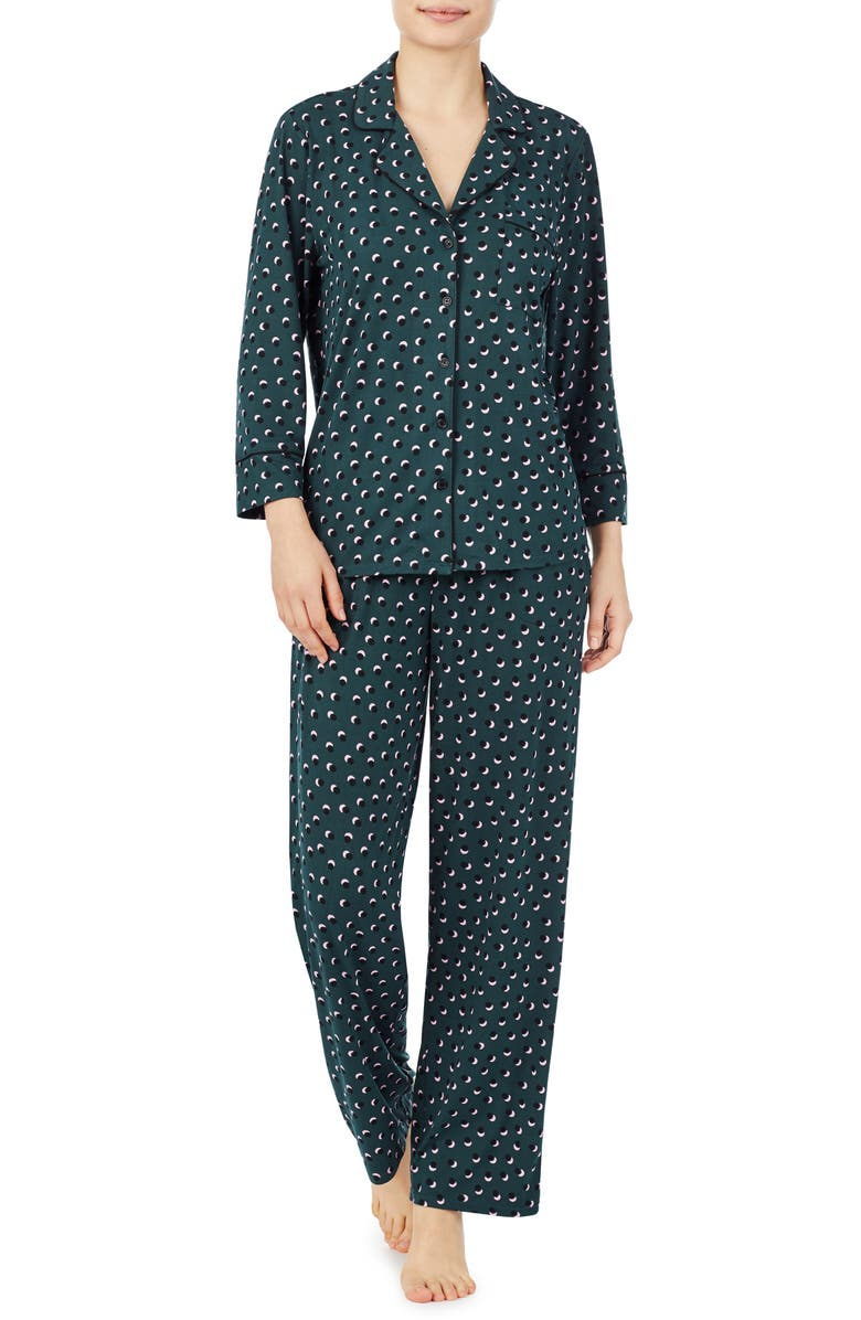KATE SPADE NEW YORK brushed jersey pajamas, Main, color, KIRBY DOT