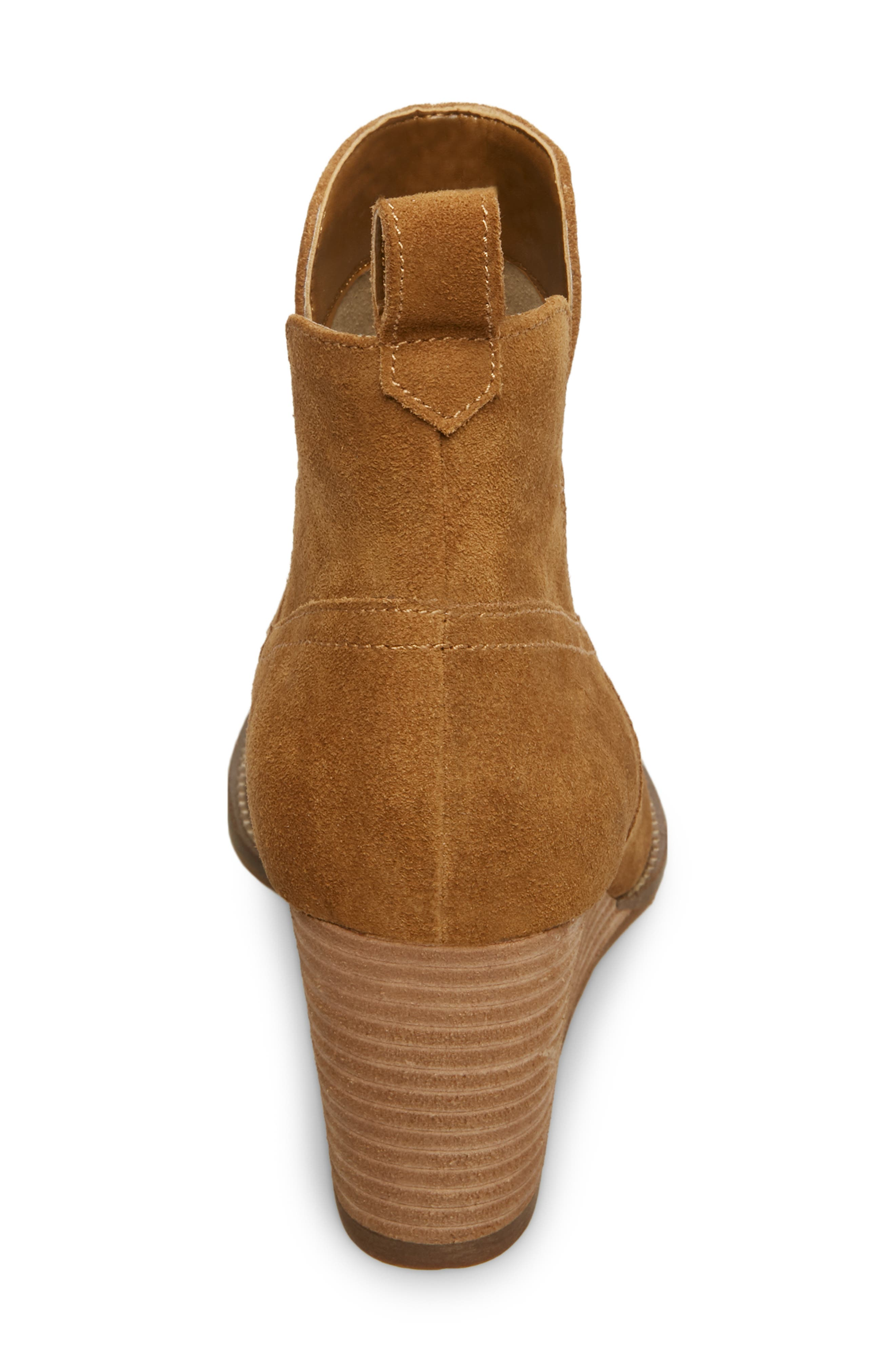 ,                             Irving Waterproof Wedge Bootie,                             Alternate thumbnail 7, color,                             CAMEL SUEDE