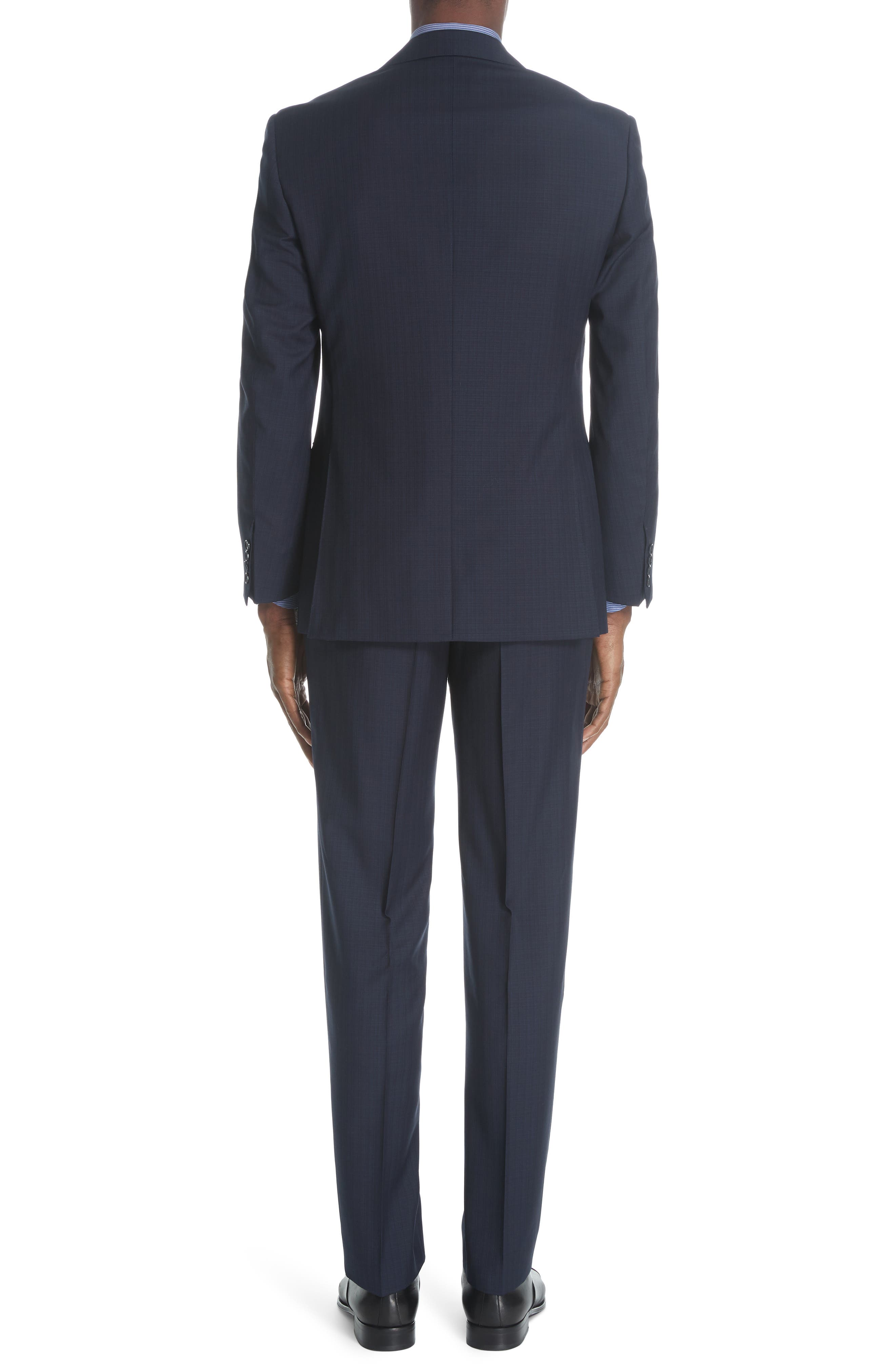 ,                             Siena Classic Fit Check Wool Suit,                             Alternate thumbnail 2, color,                             NAVY