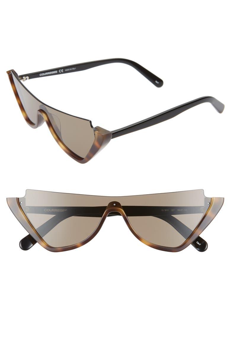 COURREGES 99mm Oversize Sunglasses, Main, color, 200