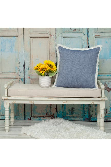 Image of Parkland Collection Okeley Transitional Blue Throw Pillow