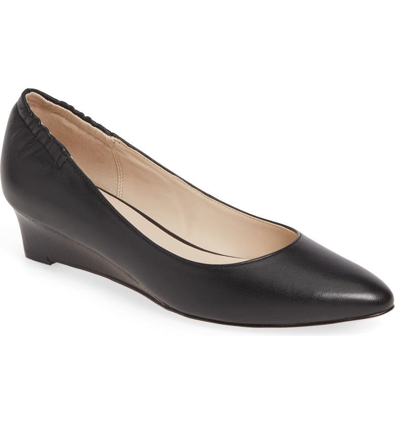 COLE HAAN Kathryn Wedge Pump, Main, color, BLACK LEATHER