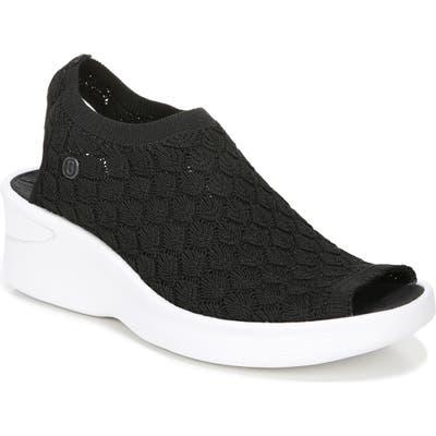 Bzees Secret Peep Toe Knit Sneaker, Black