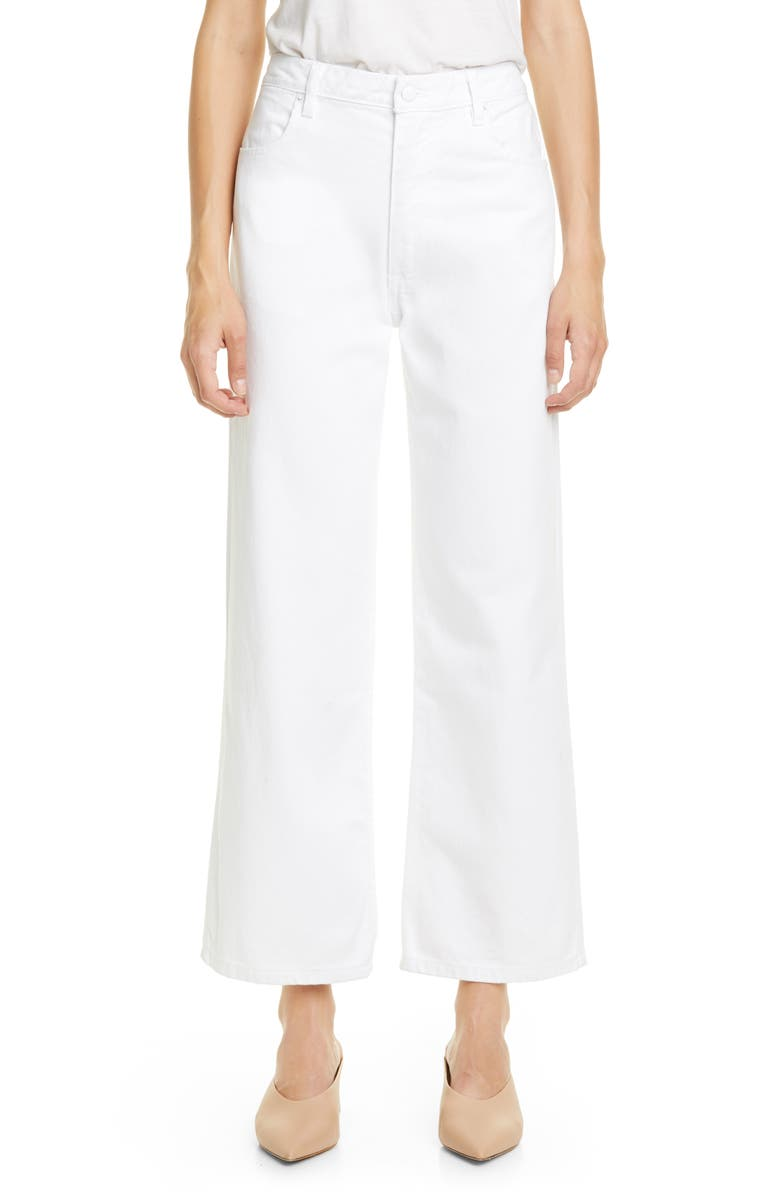 ECKHAUS LATTA Wide Leg Jeans, Main, color, WHITE
