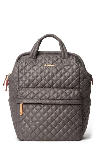 Mz Wallace Top Handle Backpack In Magnet