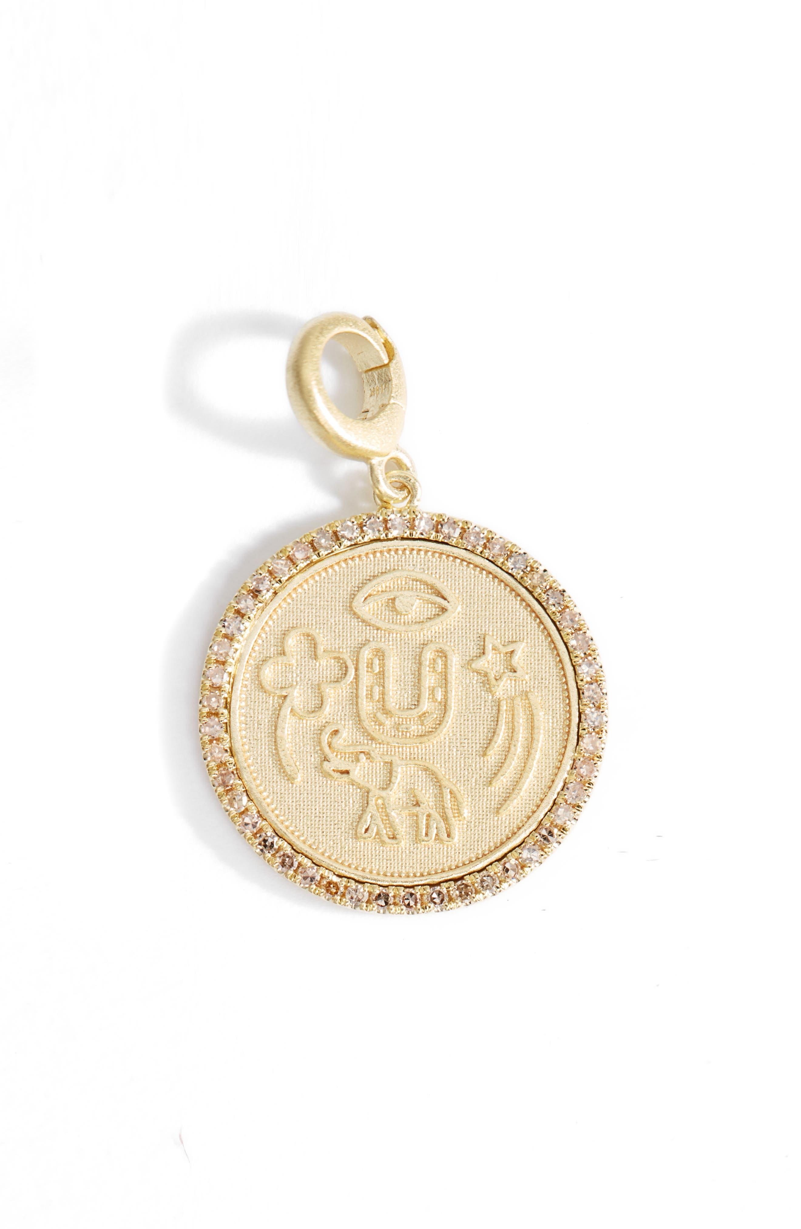 Coin Charm Pendant