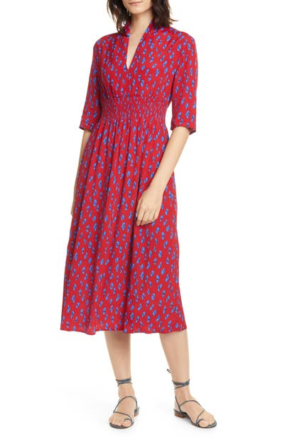 Ba&sh Dresses ORIA PRINT MIDI DRESS