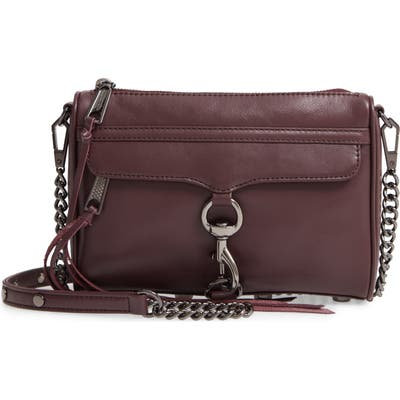 Rebecca Minkoff Mini MAC Convertible Crossbody Bag - Burgundy