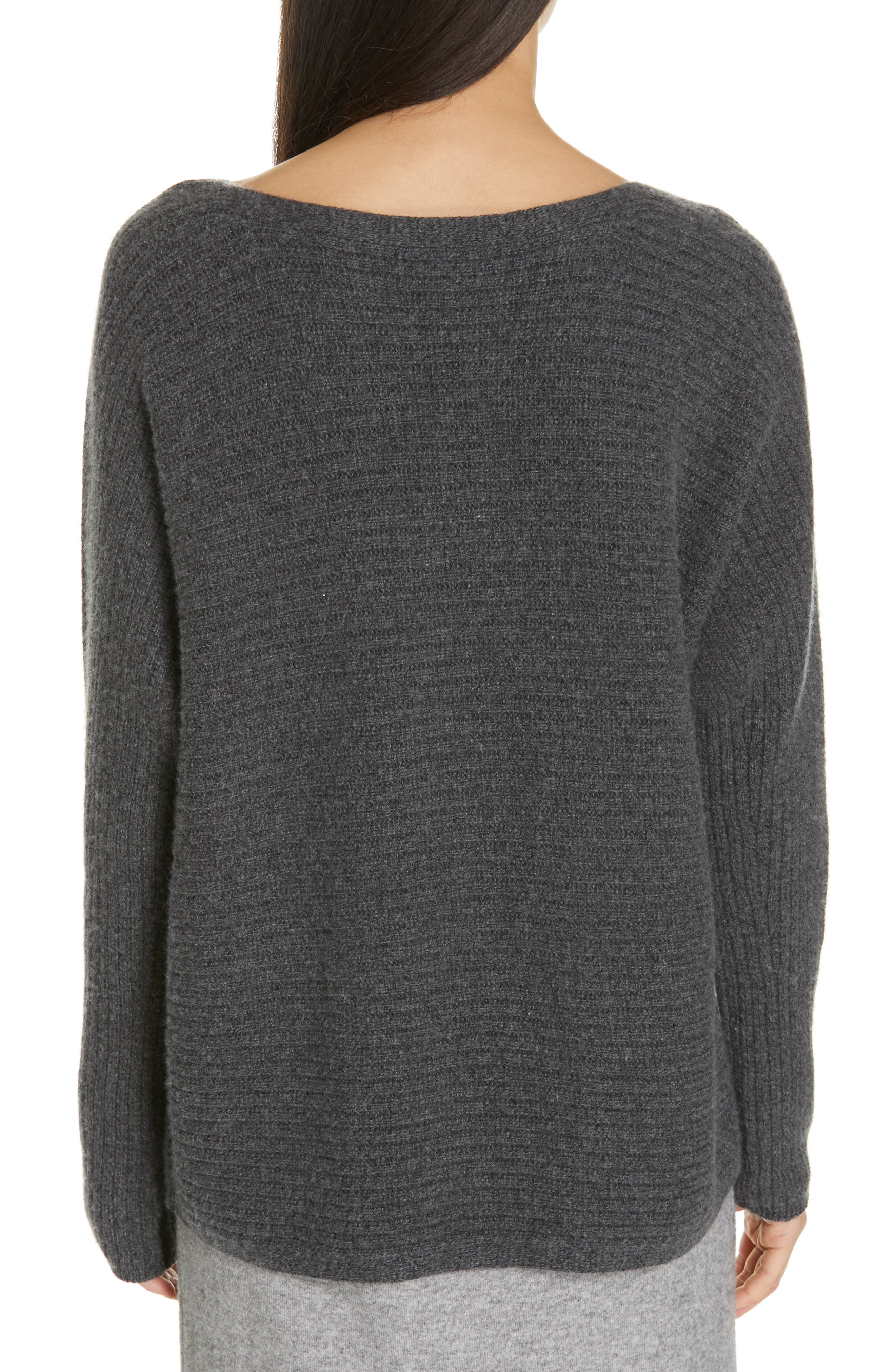 ,                             Horizontal Ribbed Sweater,                             Alternate thumbnail 2, color,                             HEATHER PEWTER