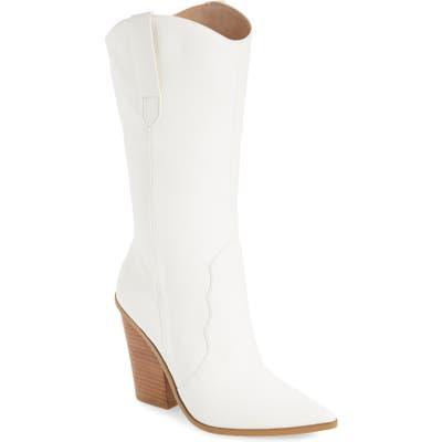 Steve Madden Renzo Western Boot- White