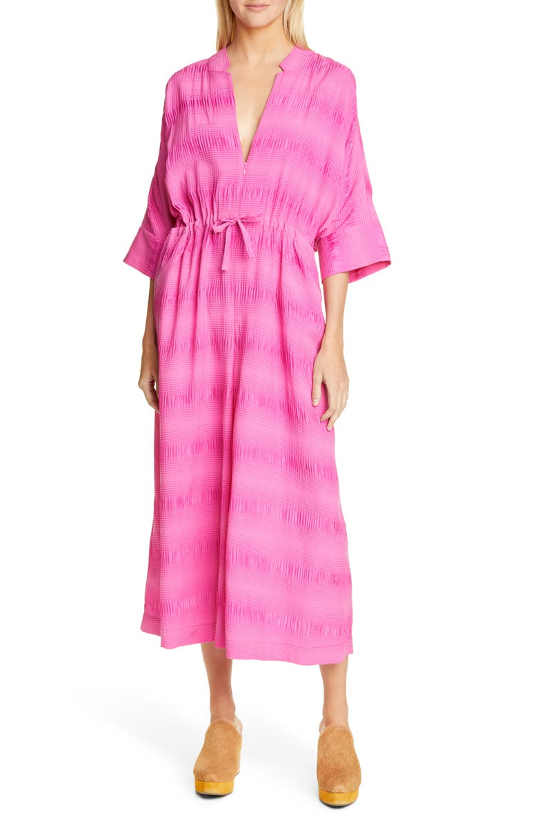 RACHEL COMEY Falter Stretch Silk & Cotton Jumpsuit, Main, color, 650
