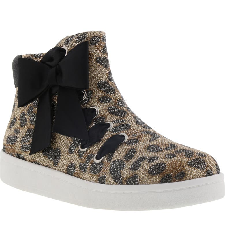 REACTION KENNETH COLE Cosmic Bow Bootie, Main, color, LEOPARD