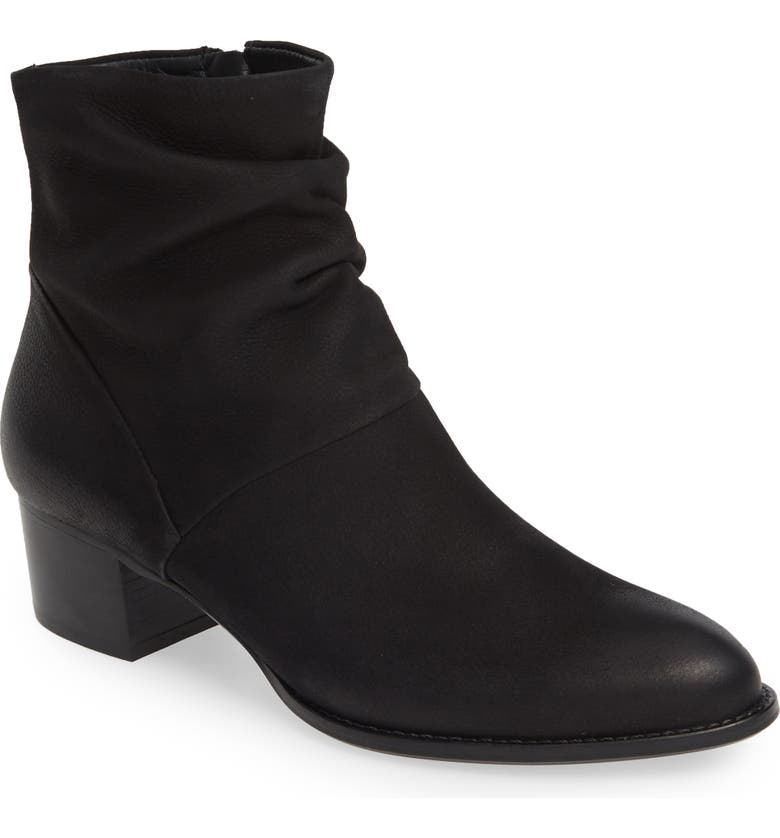 PAUL GREEN Brianna Slouchy Bootie, Main, color, BLACK SPORTNUBUK