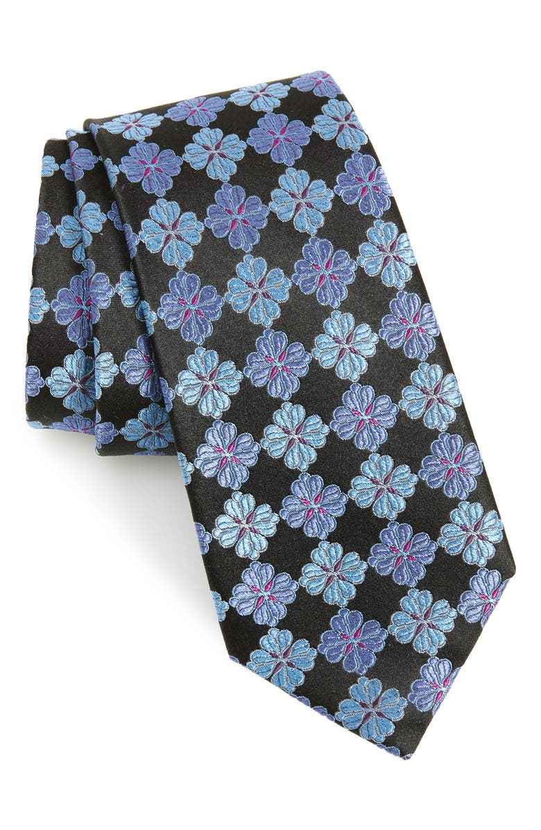 NORDSTROM MEN'S SHOP Cole Floral Silk Tie, Main, color, 002