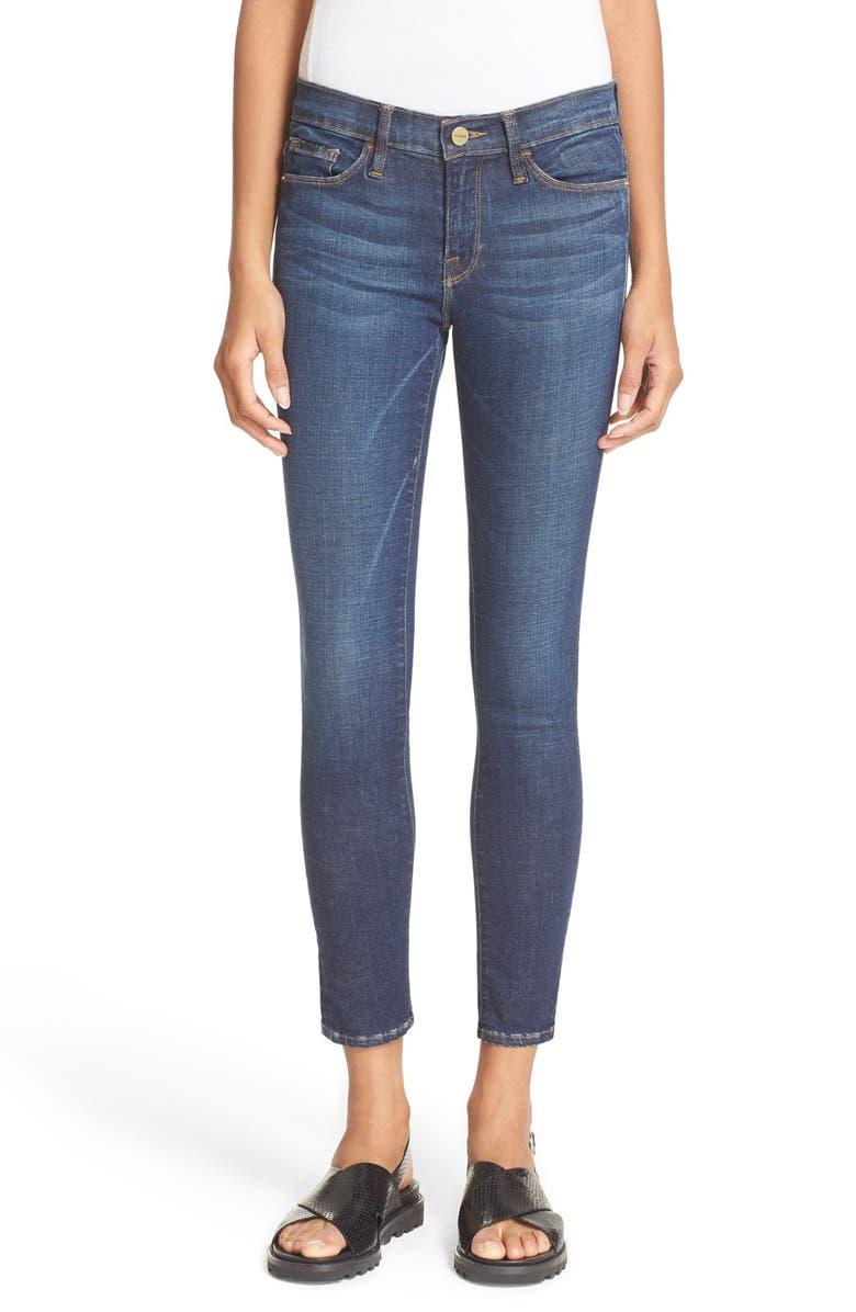 FRAME 'Le Skinny de Jeanne' Crop Jeans, Main, color, 401