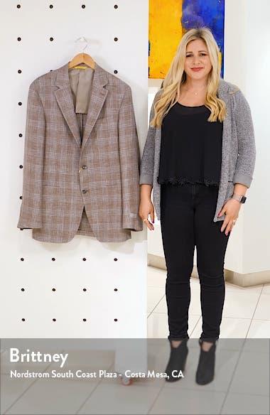 Kei Trim Fit Plaid Linen & Wool Sport Coat, sales video thumbnail