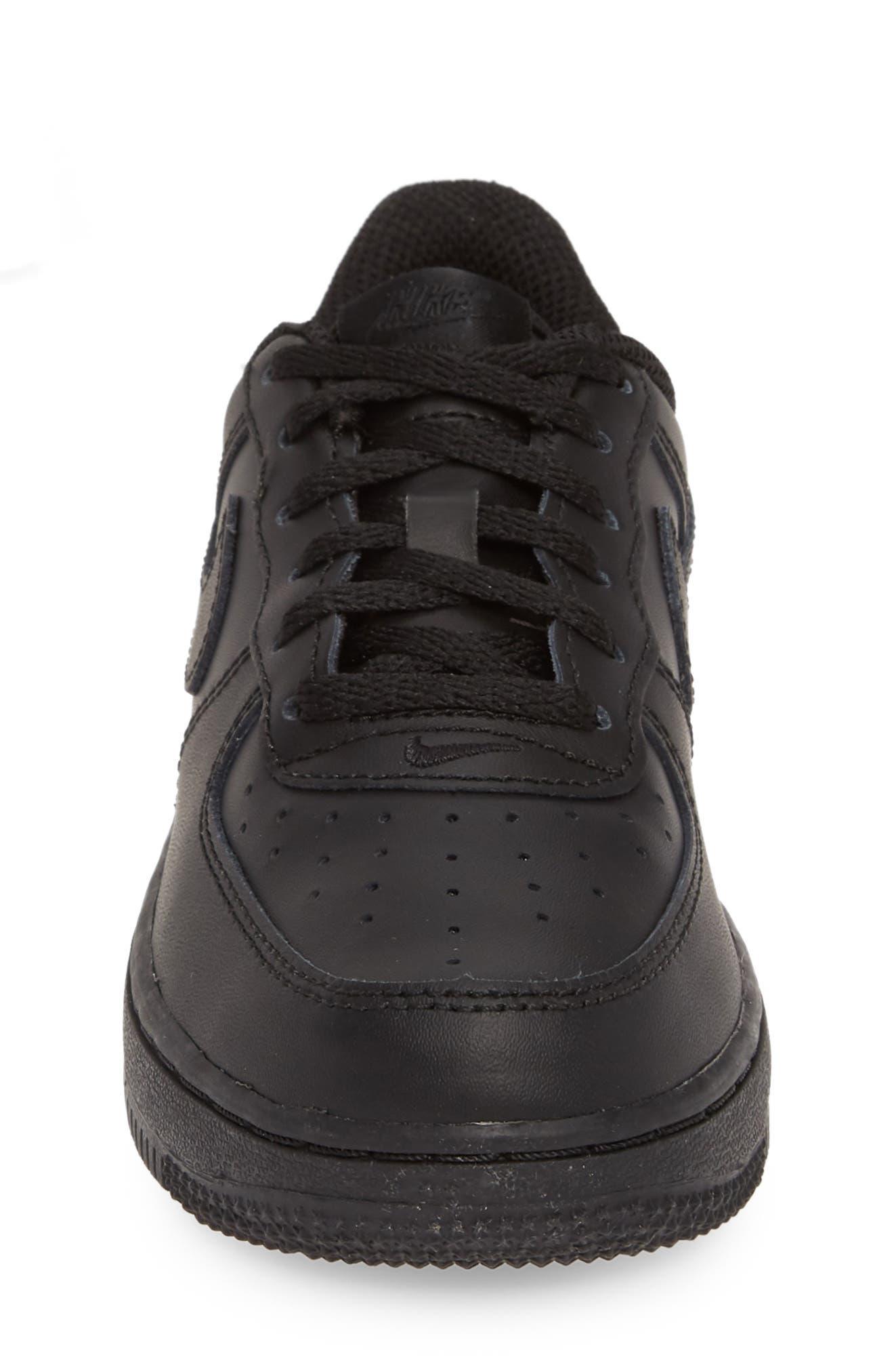 ,                             Air Force 1 Sneaker,                             Alternate thumbnail 4, color,                             BLACK/ BLACK