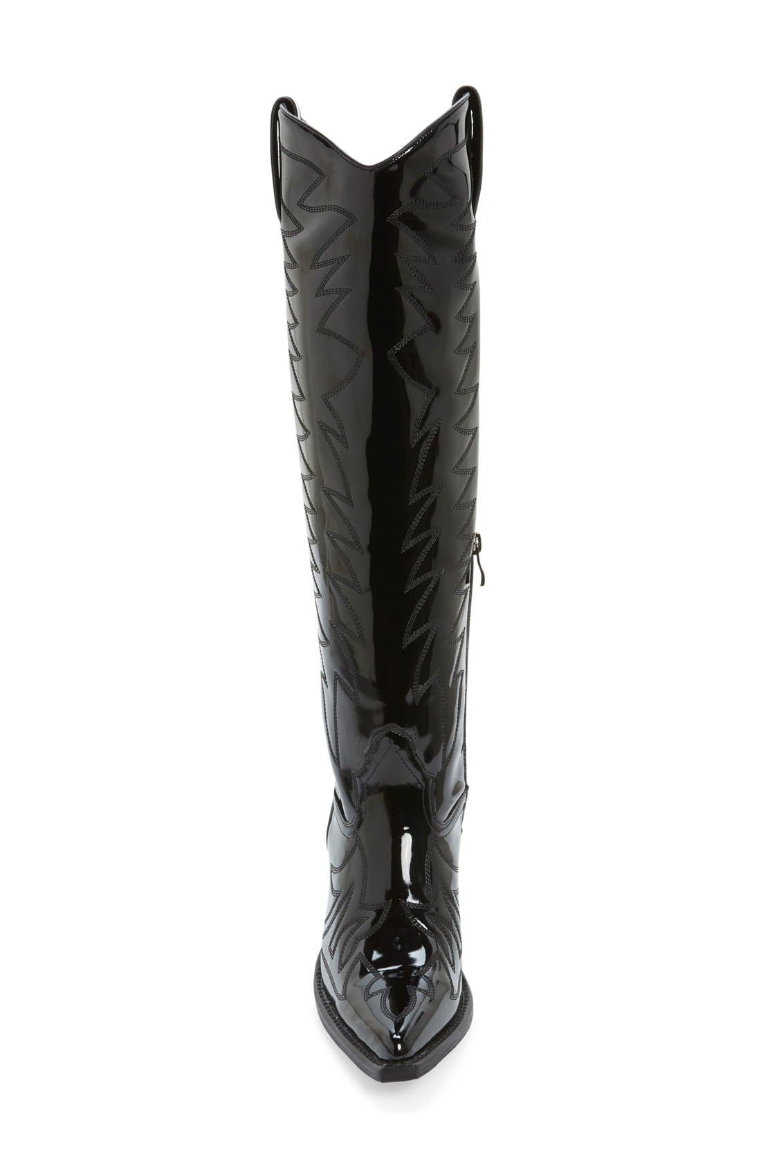,                             'Bit Sky' Tall Wedge Western Boot,                             Alternate thumbnail 2, color,                             001