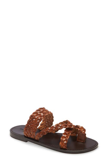 Saint Laurent Leathers NEIL BRAIDED TOE LOOP SANDAL
