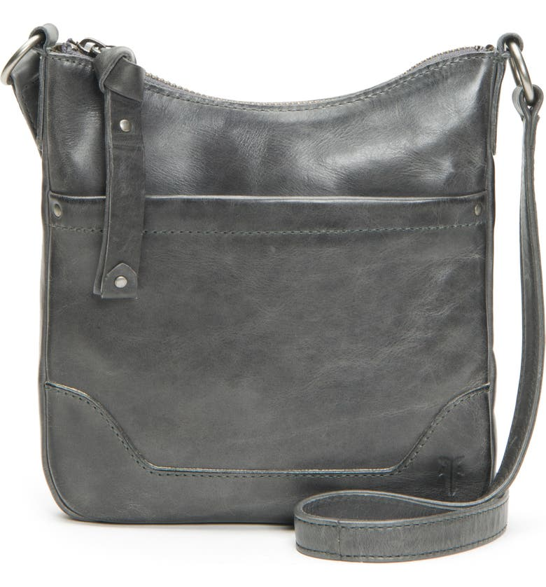 FRYE Melissa Swing Leather Crossbody Bag, Main, color, 020