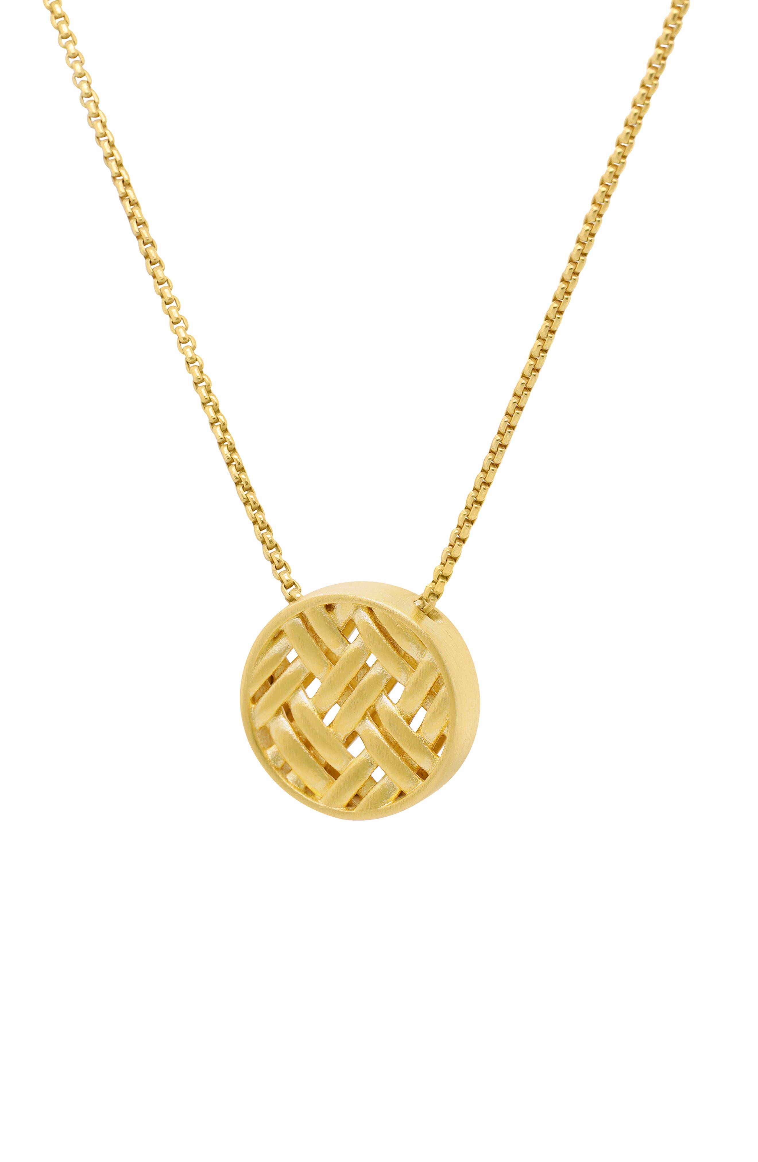 Weave Pendant Necklace