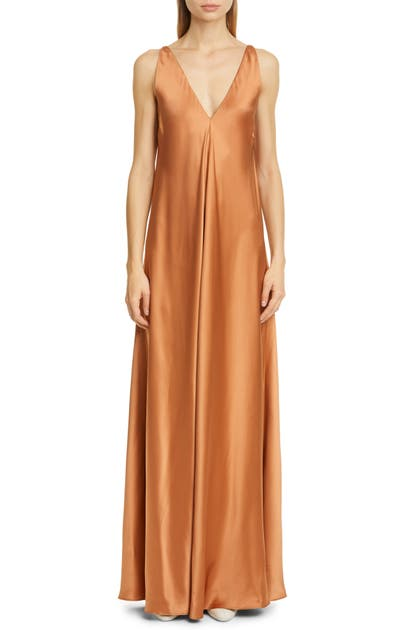 Co SILK SATIN MAXI DRESS