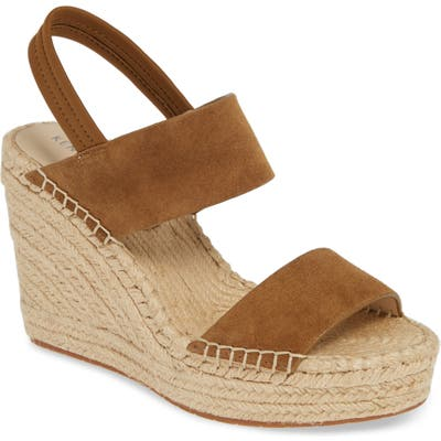 Kenneth Cole New York Olivia Simple Platform Wedge Sandal, Brown