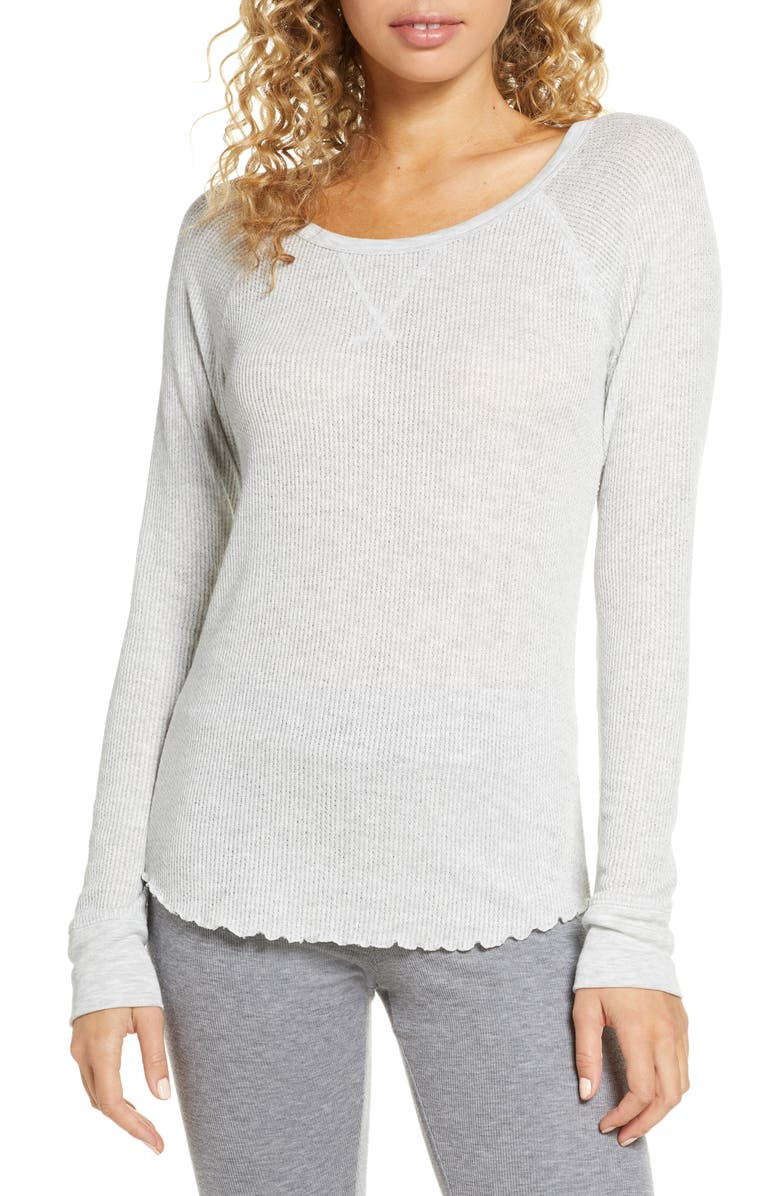BP. Thermal Long Sleeve Tee, Main, color, GREY PEARL HEATHER
