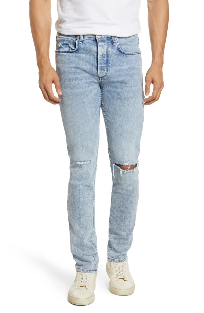 RAG & BONE Fit 1 Skinny Fit Ripped Jeans, Main, color, BERG W HOL