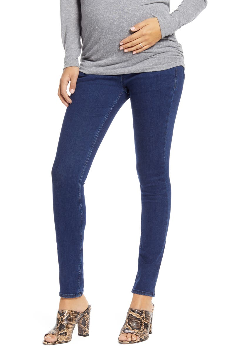 ISABELLA OLIVER Over the Belly Maternity Skinny Jeans, Main, color, 400