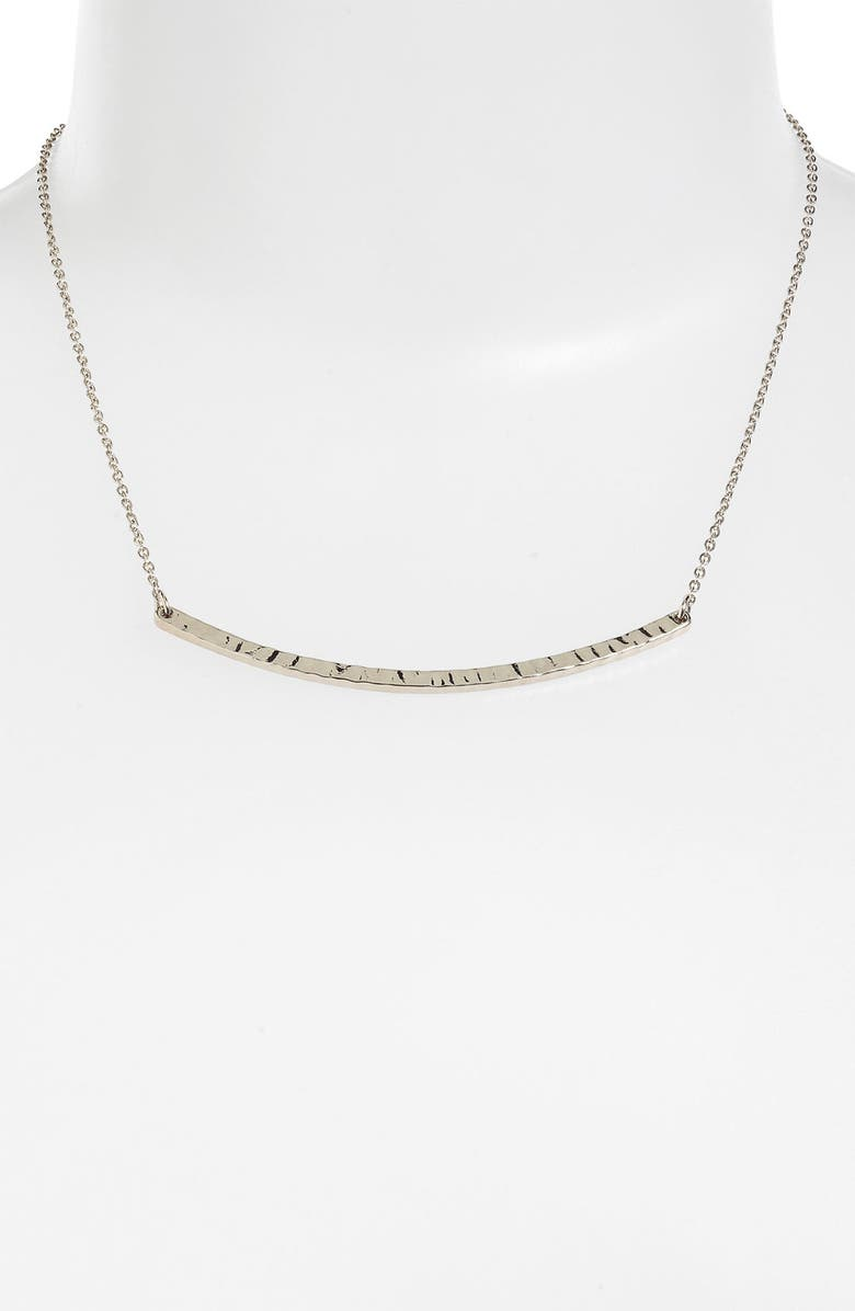 STEPHAN & CO. Curved Bar Necklace, Main, color, 020
