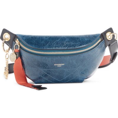 Givenchy Quilted Leather Belt Bag - Blue